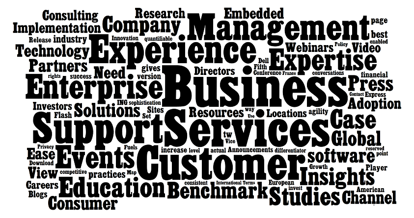 Business Services Word Cloud